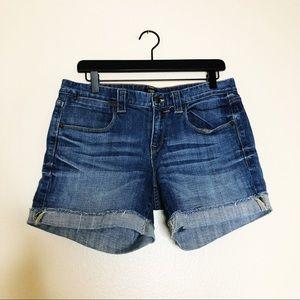 Jcrew Denim Shorts cuff distressed jeans size 6